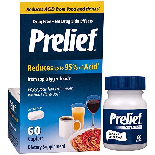 Prelief Acid Reducer Caplets 60 Count Dietary Supplement