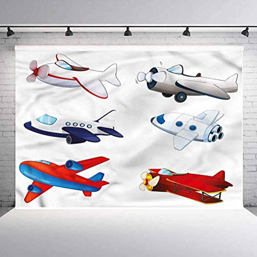 5x5FT Vinyl Photo Backdrops,Boys Room,Cartoon Style Animation Photoshoot Props Photo Background Studio Prop