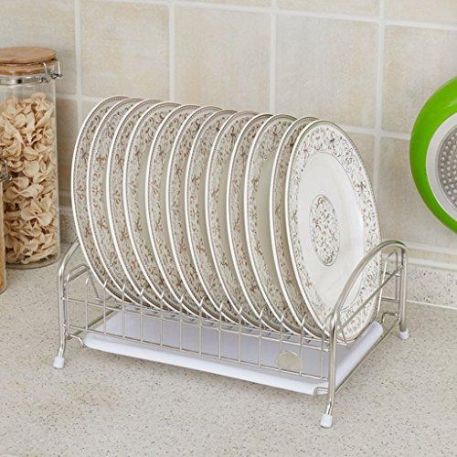 304 en acier inoxydable Bowl étagère de stockage de fuite Porte-vaisselle Mettre Bowl Cadre Chopsticks Drain Dripping Air Cuisine étagère simple couche (edition : B, taille : 34.5 * 27.5 * 16CM)