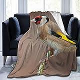 Affordable shop Manta de forro polar de 127 x 152 cm, diseño de pájaros de rama, jilguero de oro, para el hogar, de franela, suave, cálida, para cama/sofá/oficina/camping