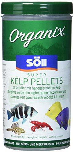 Söll 16224 Organix Super Kelp Pellets 490 ml (182 g) - Zierfischfutter mit Spurenelementen, Vitaminen, Proteinen und essenziellen Fettsäuren für Pflanzenfresser im Süß- und Meerwasseraquarium