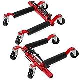 XtremepowerUS Set of (2) Wheel Dolly Car Skates Vehicle Positioning Hydraulic Tire Jack Ratcheting Foot Pedal Lift Hydraulic Car Wheel Dolly, 1,250lbs