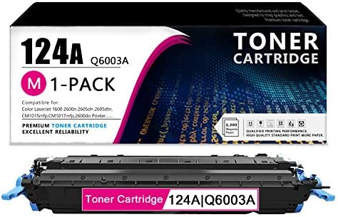 1 Pack 124A Q6003A Magenta Remanufactured Toner Cartridge Compatible Replacement for HP Color product image