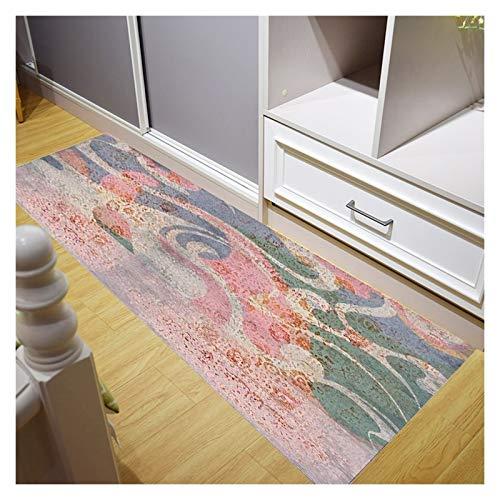TTRY&ZHANG Corredor Alfombra Alfombra, Alfombra de ARRTOS DE ENTRADORES Diseño Skid Sidelable Filos Durables para la Cocina Dormitorio, Personalizable (Color : A, Size : 90X300CM)