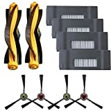 BBT BAMBOOST Replacement Parts Fit for DEEBOT M80,M80 pro Accessories Kit - Filters & Side Brushes & Main Brush (10 Pack)