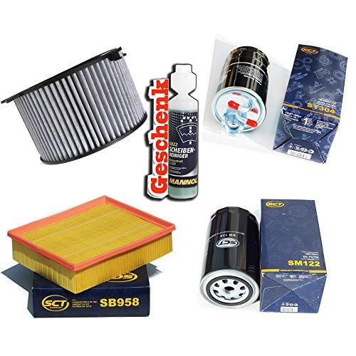 Inspektionspaket Filteristen Aktivkohlefilter SCT Luftfilter Ölfilter Kraftstofffilter Geschenk