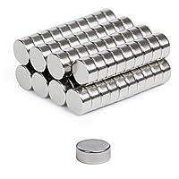 """EXTRA STARK: 80er Set extra starke NEODYM-MAGNETE Ø 7 mm x 3 mm mit Nickel-Kupfer-Beschichtung als Schutz vor Korrosion in der Magnetstärke N42. PERFEKTE """"MINI-Größe"""" 7x3: Diese Magnete bieten den optimalen Kompromiss zwischen den auf Amazon meist ve..."""