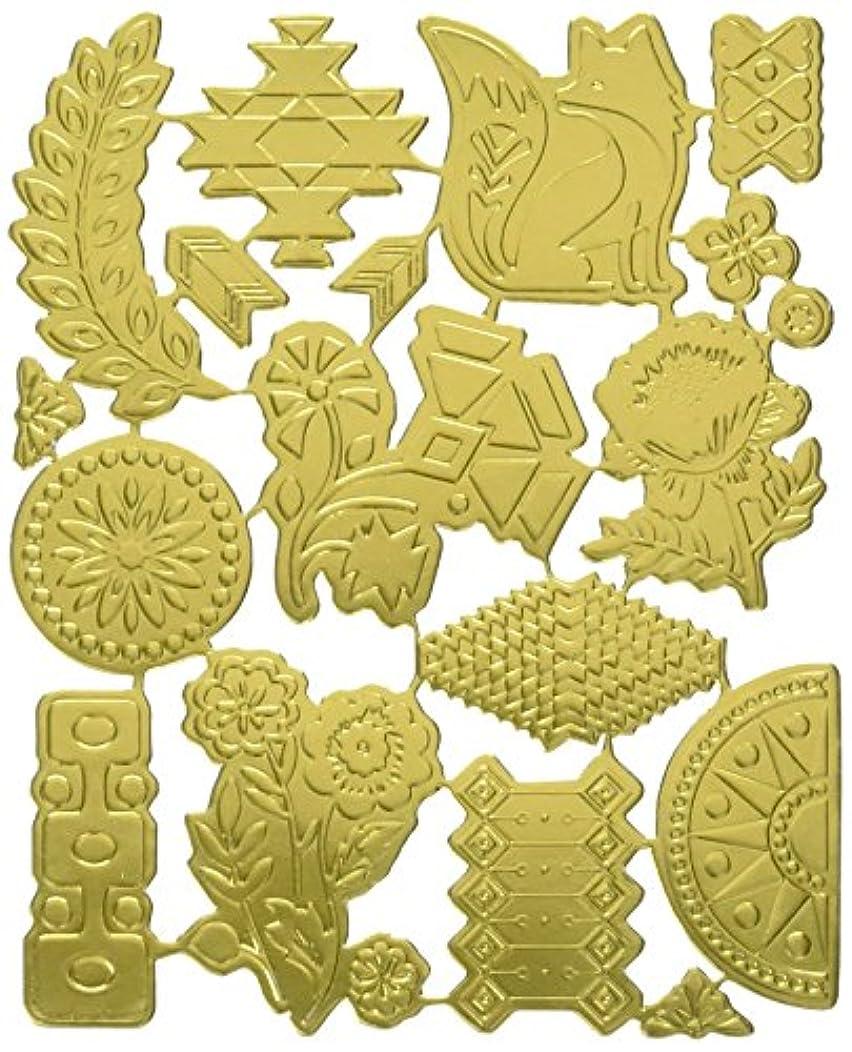 BasicGrey Grand Bazaar Gold Foil Die Cuts for Scrapbooking