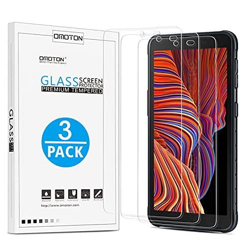 OMOTON [3 Stück]Schutzfolie kompatibel mit Samsung Galaxy Xcover 5 Panzerglas, Anti-Kratzen, Anti-Öl, Anti-Bläschen, Hülle Fre&llich, 2.5D Kante