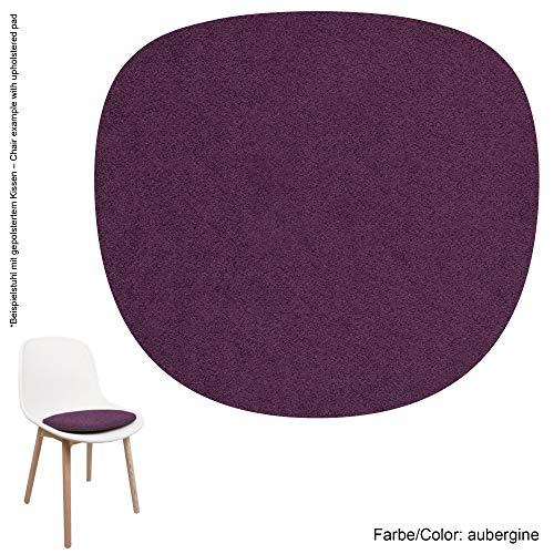 Feltd. Eco Filz Auflage 4mm Simple - geeignet für Hay - Neu Chair 13 // - 29 Farben inkl. Antirutschunterlage (aubergine)