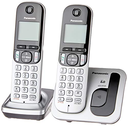 Telefone Sem Fio Com Identificador de Chamadas + 1 Ramal Panasonic DECT6.0 Prata - KX-TGC212LB1