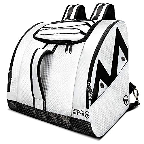 OutdoorMaster Boot Bag Polar Bear - Ski Boots and Snowboard Boots Bag, Excellent for Travel with Waterproof Exterior & Bottom - for Men,Women and Youth - White