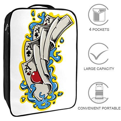 Kartenspielen Schuhbeutel Aufbewahrung großer Beutel tragbar wasserdicht für Frauen und Männer im Fitnessstudio oder im täglichen Gebrauch 23x31x16 cm