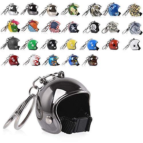 FATExpress Porte-clés en forme de mini casque de moto, pour homme et femme, B6