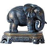 J.Mmiyi Elefantes Decoracion Figuras Estatua, Fortuna Afortunada Animal Escultura Decorativa Salon Adornos,B