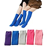 J Poqobog Girls Knee High Long Socks womens Cool Comfort Toe Support ankle Socks Couple&Family