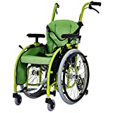 SHKY Portable Child-Specific Six-Wheel Wheelchair-Folding, Adjustable Sitting Position Handrail, Lightweight Handicapped Handcart Scooter
