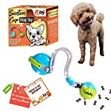 Live with Joy- Tug of War Dog Toy, Suction Cup Dog Chew Toy, Multifunction Interactive Puppy Rope Toy with Ball,Tugging and Teeth Cleaning, Puzzle Training for Aggressive Chewers,Pet Toothbrush Dental