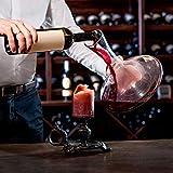 Doctor Hetzner Dekantierer,Weinkaraffe 100% Bleifreie,Kristall Dekanter Rotwein Karaffe - 1800ml - 4