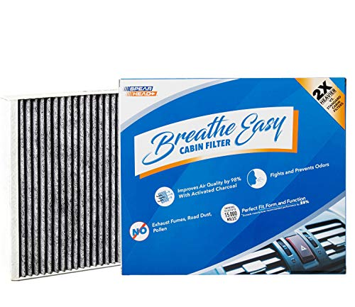 Spearhead Premium Breathe Easy Cabin Filter, Up to 25% Longer Life w/Activated Carbon (BE-966)