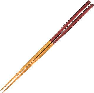 山下工芸(Yamasita craft) 日本製 研出ダイヤカット箸 朱 27010850
