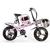 Nobuddy 19 Pulgadas Plegable De Aluminio Bicicleta De Paseo Mujer Bici Plegable Adulto Ligera Unisex Folding Bike Manillar Y Sillin Confort Ajustables,6 Velocidad,Capacidad 140kg /
