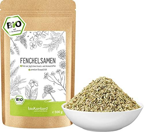 Fenchelsamen BIO süß ganz 500g - 100% natürlicher Fencheltee - Gewürz - beste Bio-Qualität von bioKontor