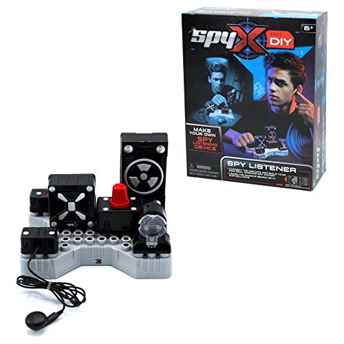 SpyX DIY Listener - Listen In On Secret Conversations! STEM Educational Science Kit To Make Your Own Real-Working Spy Listening Device. Do It Yourself Electronic Spy Toy Gadget