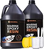 Aquaseal Table Top Epoxy Resin Epoxy - Bar Top Epoxy Clear Epoxy Resin Countertop Epoxy Marine Epoxy Resin Epoxy Countertop Kit Epoxy Kit 2 Gallon 2 Part Epoxy Resin Clear Adhesive Primer