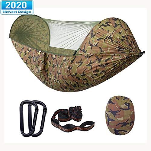 Hamac avec Moustiquaire Voyage Ultra-léger Camping Portable Capacité Charge De 200 Kg pour Randonnée Plein Jardin Intérieur