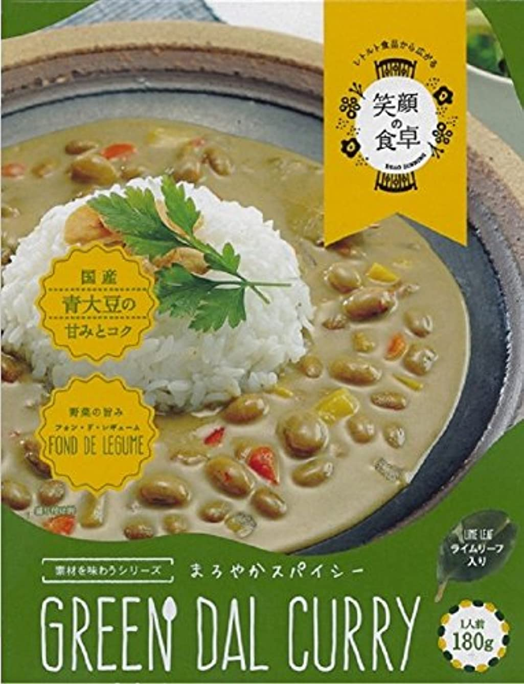Keysystem 4991228112148 Due Date Attention> Okayama Prefecture Local 【Plenty Soy Green Curry】 (180 g), Clear