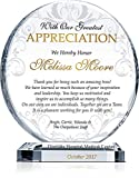 Personalized Boss Appreciation Gift Plaque, Customized with boss' name and your name and appreciation message, unique boss day, birthday, Christmas gift for boss, manager, supervisor (M - 6.5')