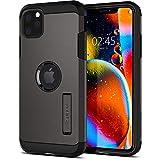 【Spigen】 iPhone 11 Pro Max ケース 6.5インチ 対応 耐衝撃 スタンド機能 米軍MIL規格取得 カメラ保護 傷防止 衝撃 吸収 Qi充電 ワイヤレス充電 タフ・アーマー 075CS27141 (ガンメタル)