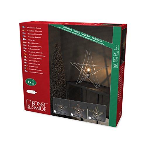 Konstsmide 3552-600 kopparfärgade metallstänger/för inomhusbruk (IP20)/230 V inomhus/utan ljuskälla/med på/av strömbrytare/E14 lamphållare/svart kabel