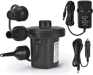 yidenguk Bomba de aire eléctrica, balanceador de gas AC-DC inflable rápido portátil con 3 boquillas para colchón de aire piscina inflable juguete acuático trampolín barco de piscina juguete