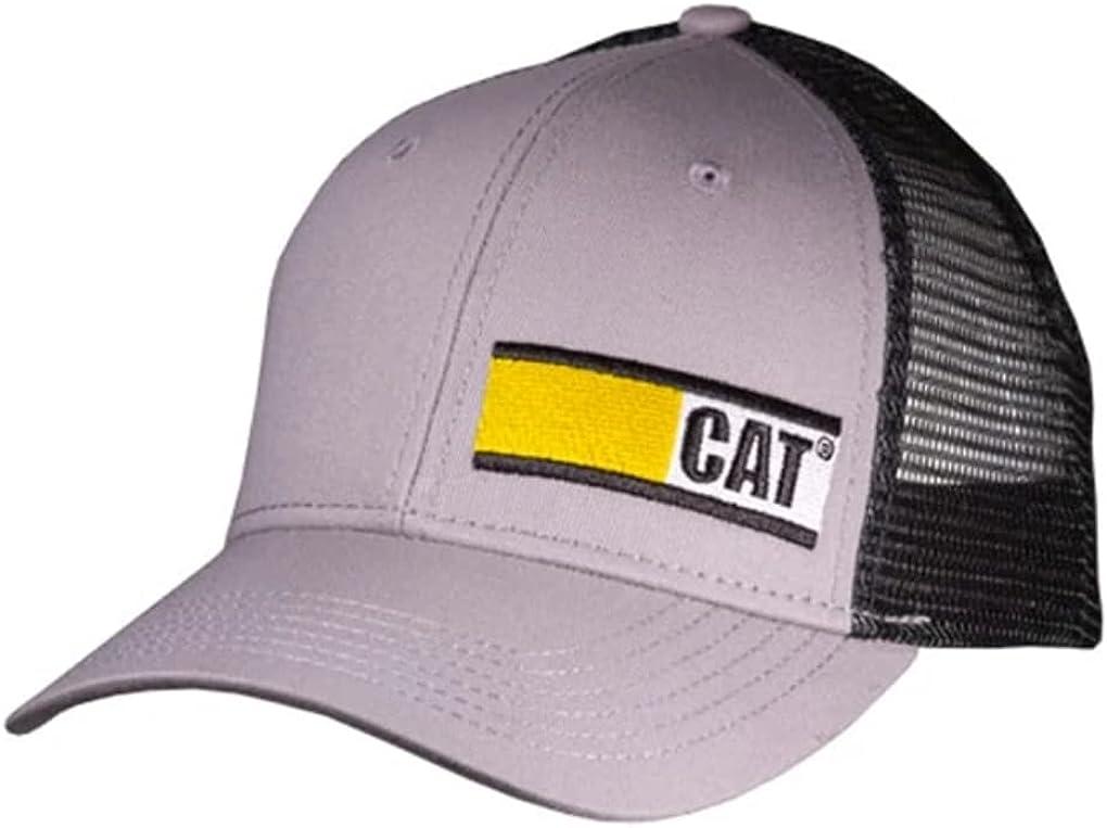 Caterpillar CAT Equipment CAT Badge Black & Grey Snapback Mesh Cap/Hat