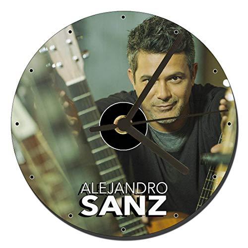 MasTazas Alejandro SANZ Reloj CD Clock 12cm
