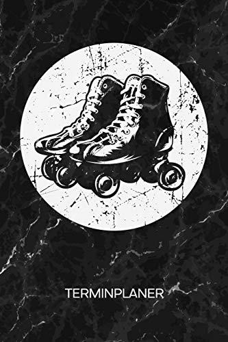 TERMINPLANER: Rollschuh Skater Kalender 70er Jahre Party Terminkalender - Vintage Rollschuhe Wochenplaner Retro Roller Skates Wochenplanung Vintage Taschenkalender Oldschool To-Do Liste Termine