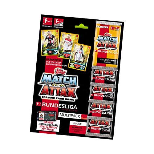 Topps BL2-MP2 Match Attax Sammelkarten 2020/21, Multipack inkl. 25 Karten