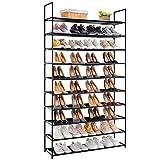 APICIZON 10 Tiers Shoe Rack, 50 Pairs Shoe Storage Organizer Shelves for Closet / Entryway...