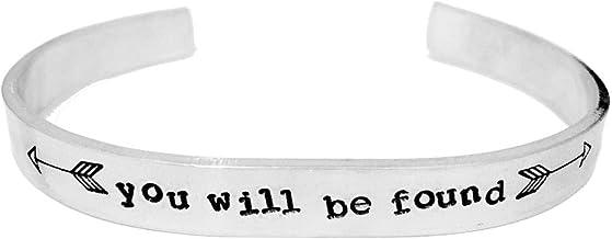 Theatre Nerds 'You Will Be Found' Dear Evan Hansen Broadway Musical Inspired Aluminum Cuff Bracelet