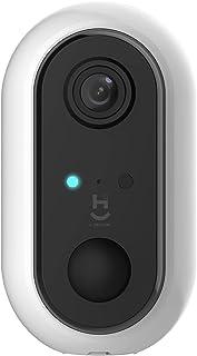 Hi by Geonav Câmera Inteligente Wi-Fi, Full HD 1080, Bateria, Branca, HISCBT, Compatível com Alexa Echo Show*