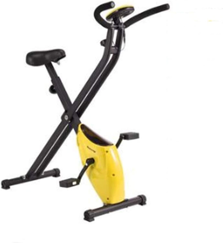 リラクタンス縦型自転車、調整可能な高さと速度、LCDディスプレイ、折りたたみ式エクササイズバイク、屋内エアロビクスに適した、体力強化