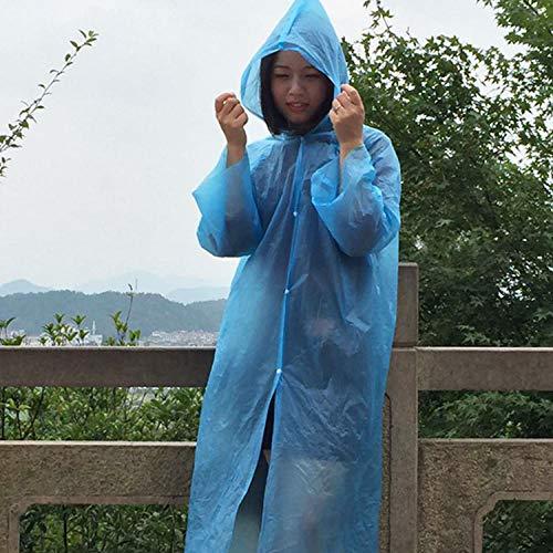 Wegwerp regenponcho,Wegwerp regenjas, waterdichte cape voor reizen buitenshuis - 20 stuks,Waterdichte regenponcho voor noodgevallen
