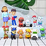 12pcs paw patrol cake topper figures set cake decoration for the paw patrol party supplies