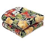 Pillow Perfect Outdoor Clemens Wicker Seat Cushion, Noir, Set of 2 wicker Feb, 2021
