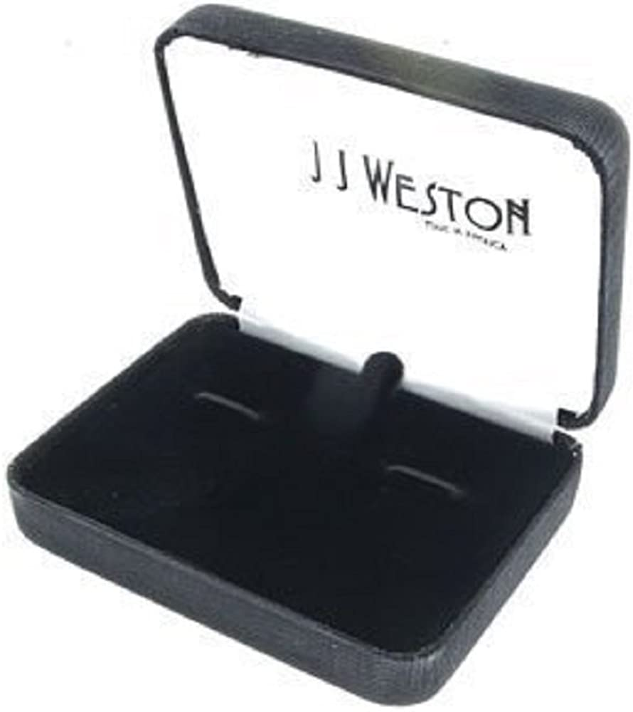 JJ Weston Black Enamel Tuxedo Cufflinks and Shirt Studs. Made in the USA.
