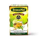 BRONCOMIEL Tea Bags – Honey Herbal Tea for Coughing and Soreness – Eucalyptus, Ginger and Lemon...