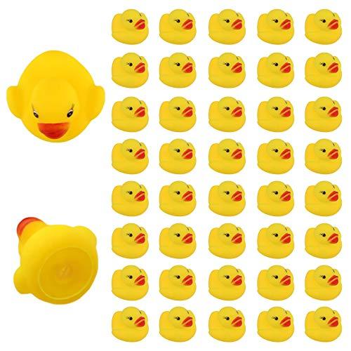 LUTER 36 Piezas Pato De Goma Juguete De Baño para Niños Flotador Chirrido Mini Patos Amarillos Juguetes De Bañera para Ducha Cumpleaños Suministros para Fiestas