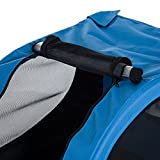 PawHut® Hundeanhänger Fahrradanhänger Hunde Fahrrad Anhänger Blau/Schwarz NEU - 7